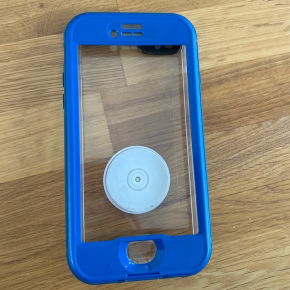 new styles 8594b 358a4 Lifeproof iPhone 7 NUUD case with pop socket